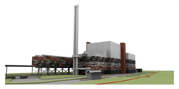 An artist's impression of the plant