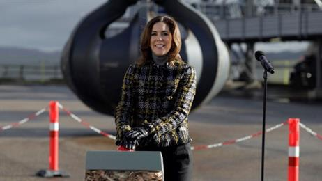 Denmark's crown princess Mary, opens the converted plant