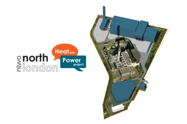 NLWA plans to replace the Edmonton EcoPark (centre) with a new plant (top)