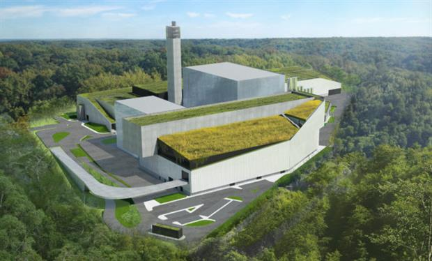 Artist's impression of the EkoImpuls plant planned for Warsaw