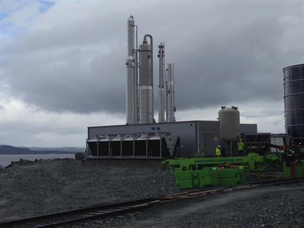 Purgas' biogas upgrading plant installed at the Skogn Papermill, Norway
