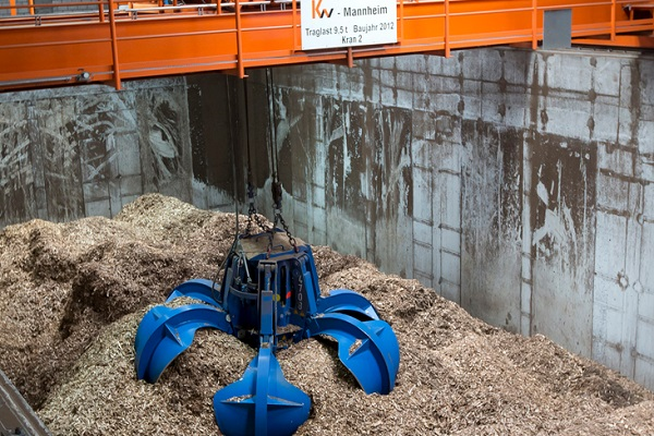 A biomass-fired plant