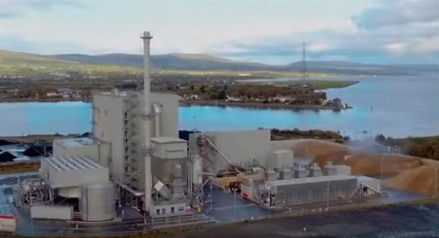 The biomass-fired plant