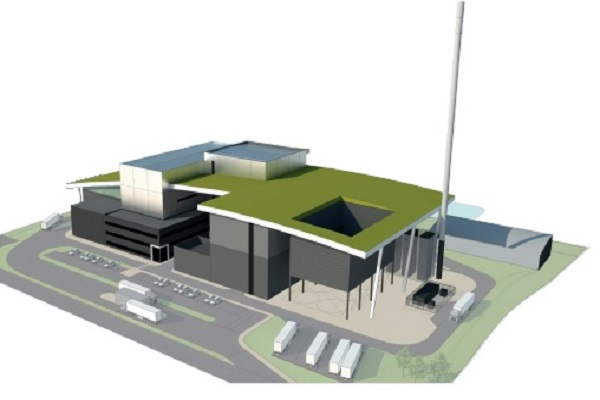 An artist's impression of Britaniacrest's planned EfW plant