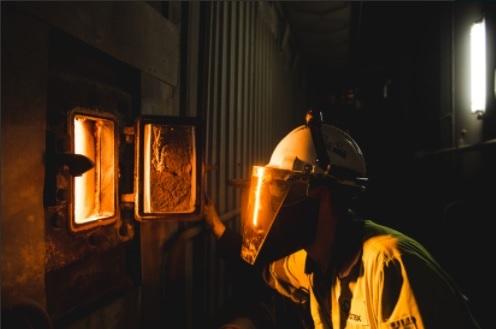 The biomass furnace at Drax Power Station Photo Drax
