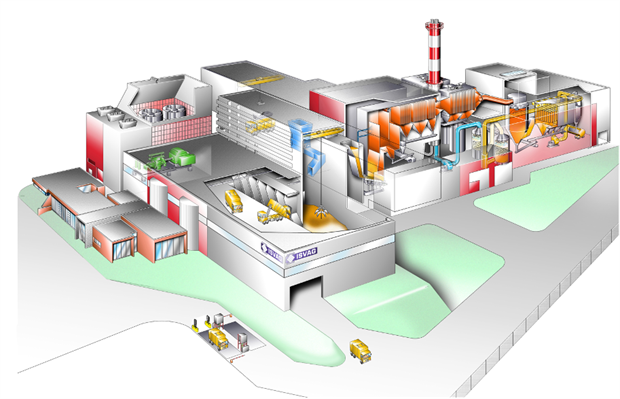 An artist's impression of the firm's current facility