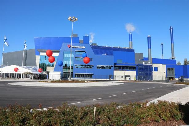 The EfW plant at its opening last year