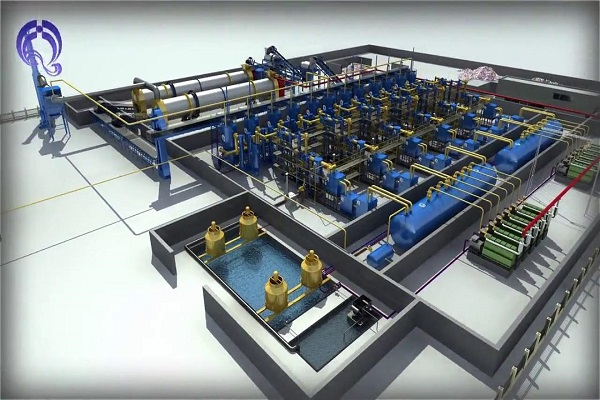 An artist's impression of the gasification plant