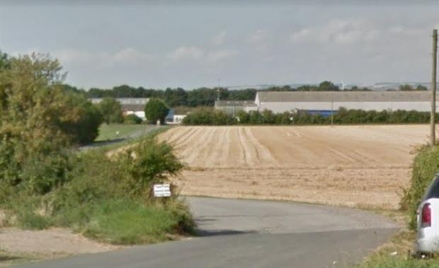 The site of the biogas plant, image copyright google.co.uk