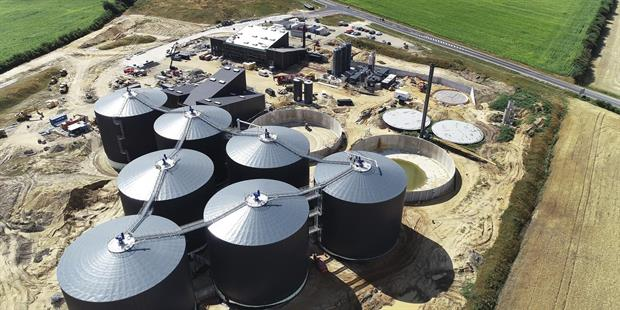The under-construction biogas plant