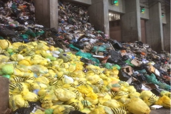Waste inside the plant's tipping hall, image copyright Inside Croydon used with permission