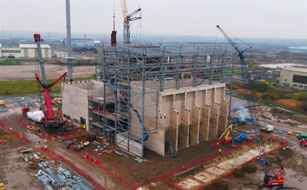 The Parc Adfer EfW plant under-construction earlier this year, image wtiparcadfer.co.uk