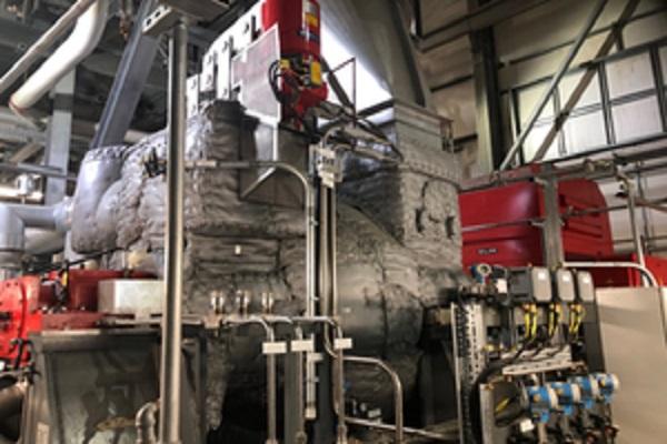 Inside the plant's gasfication unit