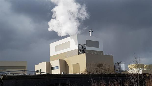 The biomass-fired plant, image copyright @LABCRotherham
