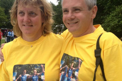 Yorkshire GP Dr Cath Hearnshaw and Dr Keith Brownlee, parents of medal-winning triathletes (Photograph: British Triathlon)