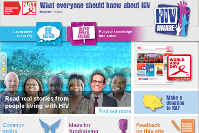 The NAT has set up its own website, HIVaware.org.uk, run in partnership with Durex