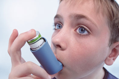 Research has shown a reduction in acute asthma symptoms in children treated with prednisolone (Photograph: SPL)