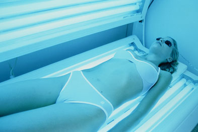 Sunbed use has been shown to increase the risk of skin cancer (Photograph: SPL)