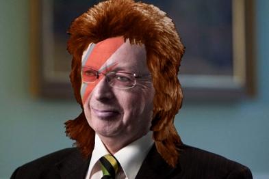 Starman Sir John 'Bowie' Oldham expressed his Thin White Duke love