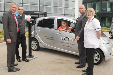 From the left, councillor Alan Cockburn (Coventry and Warwickshire Local Enterprise Partnership and Warwickshire County Council), Robert Gray (British Gas), Dr Kay Bridgeman (Brookside Surgery), Tim Zimmerman (Peugeot UK) and Paula Colin (Brookside S