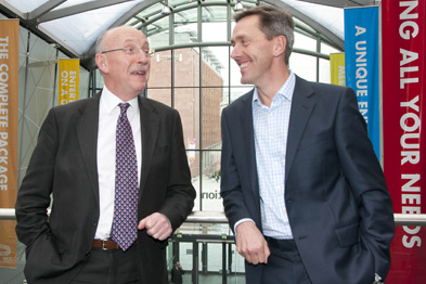 Dr Gillies (left) and Professor Marshall debated the ethical stance (Photograph: Peter Hill)