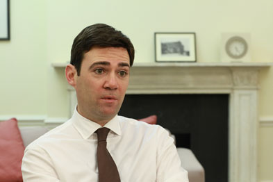 Shadow health secretary Andy Burnham: government plans are 'forced privatisation from the top'