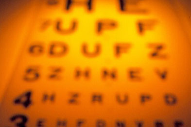 The Snellen chart is the usual method for testing vision (photograph: spl)