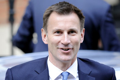 Health secretary Jeremy Hunt said the health of the UK had lagged behind Europe 'for too long'