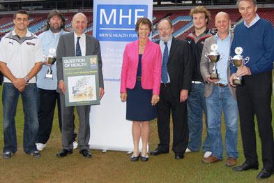 Dr Banks (fourth from the right) at the launch of the Men's Health Forum