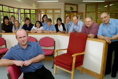 Dr David Fitzsimons and the practice team from South Holderness Medical Practice (Photograph: UNP)