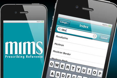 MIMS prescribing app available on the iPhone