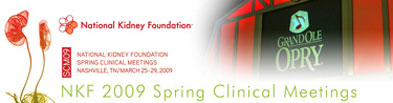 National Kidney Foundation 2009 Spring Clinical Meetings news