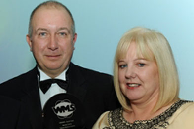 Steve Dunn, CEO of Williams Medical Supplies, with Wendy Collett, the winner of the Practice Manager of the Year award