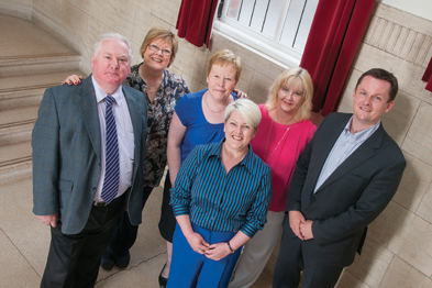 The Green Dreams team (l-r): Mark Jinkinson, Edwina Foote, Christine Warren, Polly Moore, Deborah Christie, and Dr James Fleming