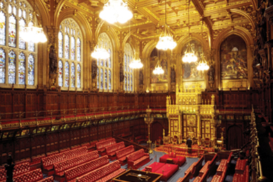 House of Lords: may insist population sizes of CCGs are set at around 250,000 patients (Photograph: REX)