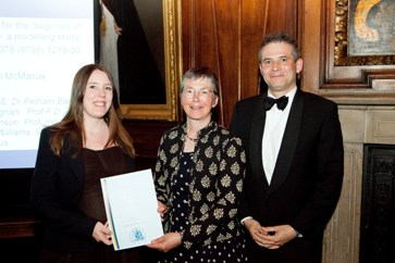 From left to right: researcher Kate Lovibond, RCGP President Dr Iona Heath, Professor Richard McManus