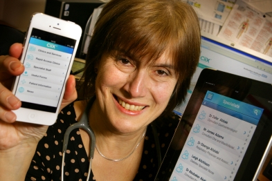 Dr Jane Lothian: app links GPs to hospital staff (photo: Northumbria Healthcare NHS Foundation Trust)