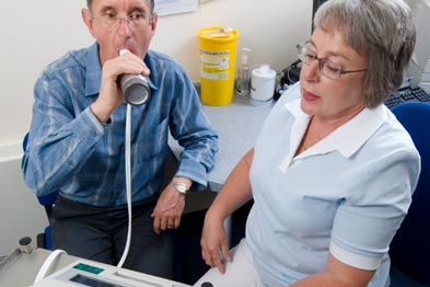 Spirometry: the National COPD Audit Programme will assess how the NHS performs on lung disease care (picture: Jim Varney)