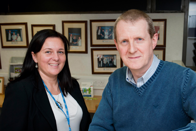 Fiona Moore and Dr Hamish Stedman: key to success will be HHS's relationship with Salford City Council (Photograph: UNP)