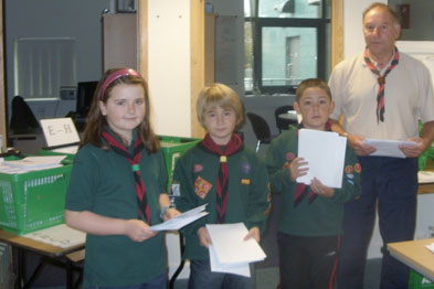 Scouts from Bristol help out during postal strike