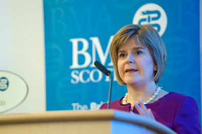 Ms Sturgeon: English reform plans around increasing competition pose a 'real danger' and could signal 'the end of the NHS as we know it'