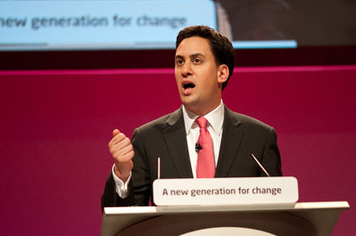Mr Miliband: 'When I look at everything this Tory government is doing, frankly it is the NHS that shocks me most.' (Photograph: Labour Party)