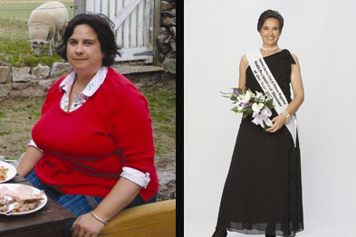 Lady Arabella Onslow before and after diet programme (Photograph: The Rosemary Conley diet programme)
