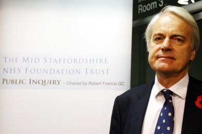 Robert Francis QC: chaired Mid Staffs public inquiry