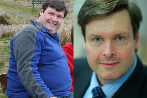 Before and after. Dr Andrew Thomson lost  35 kg. Pic: Author own/BMA
