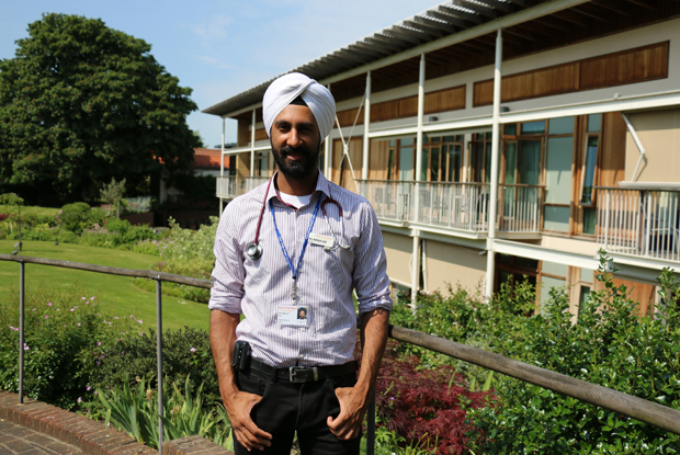 Dr Abhijit Gill at the Royal Trinity Hospice, London