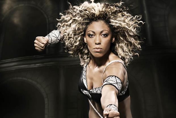 Dr Zoe Williams as Amazon from Gladiators