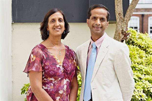 Drs Rita and Arun Aggarwal: GP Enterprise Award 2014 winners (Photo: Tom Campbell)