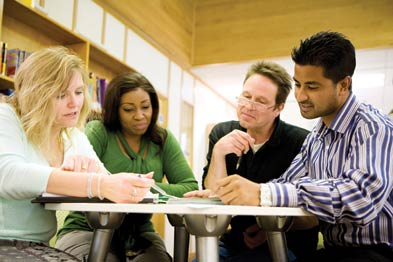 Small groups can be an excellent way to acquire peer support and continue professional development (Photograph: Istock)