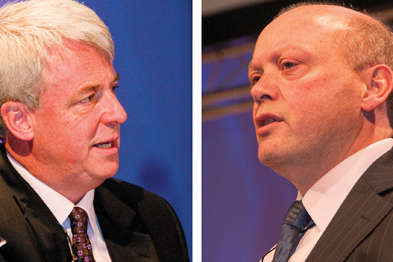 Health secretary Andrew Lansley (left) and Professor Steve Field (right): GP commissioning rethink (Photographs: P Hill)